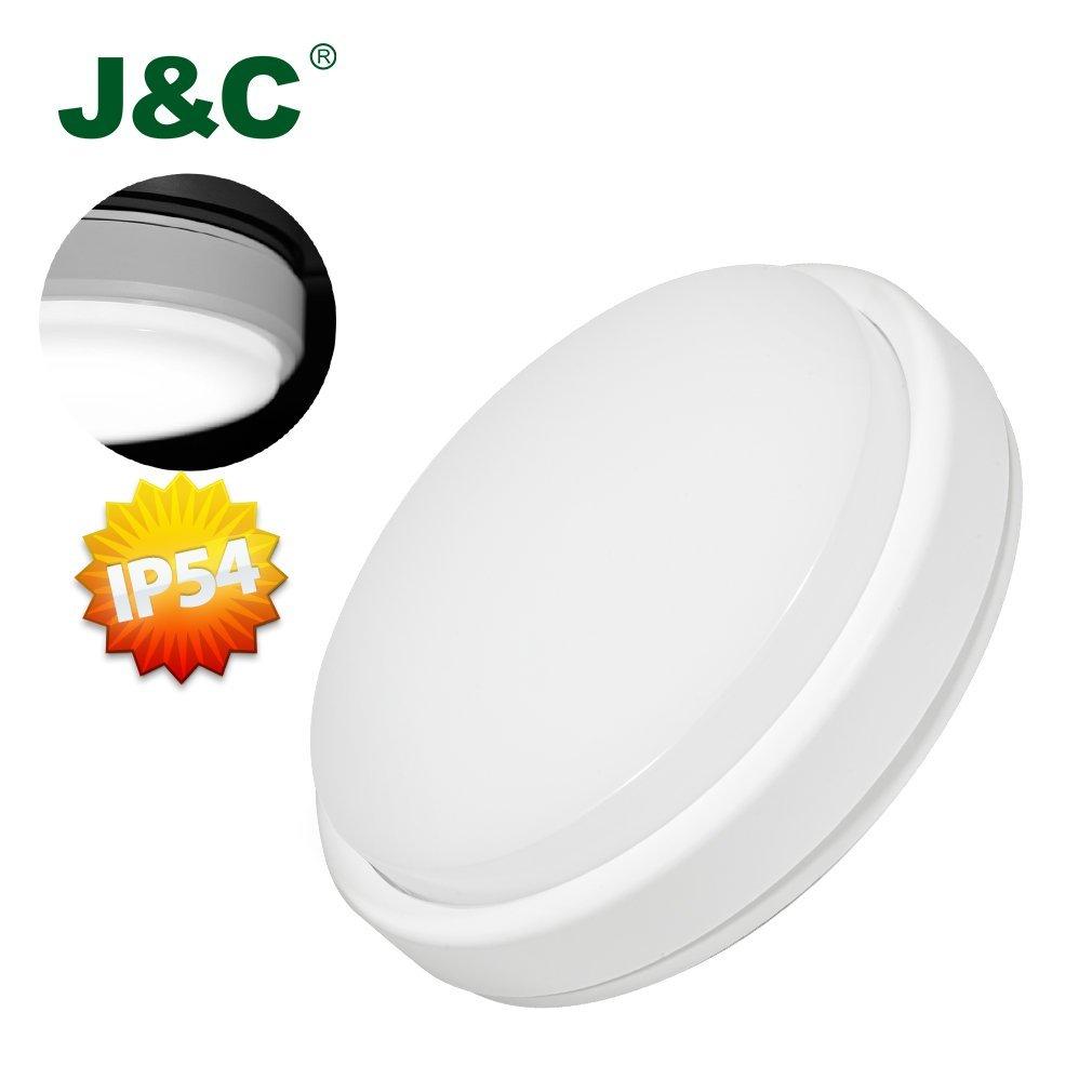 led ceiling light ip54 bathroom flushmount 45w equivalent natural white. Black Bedroom Furniture Sets. Home Design Ideas