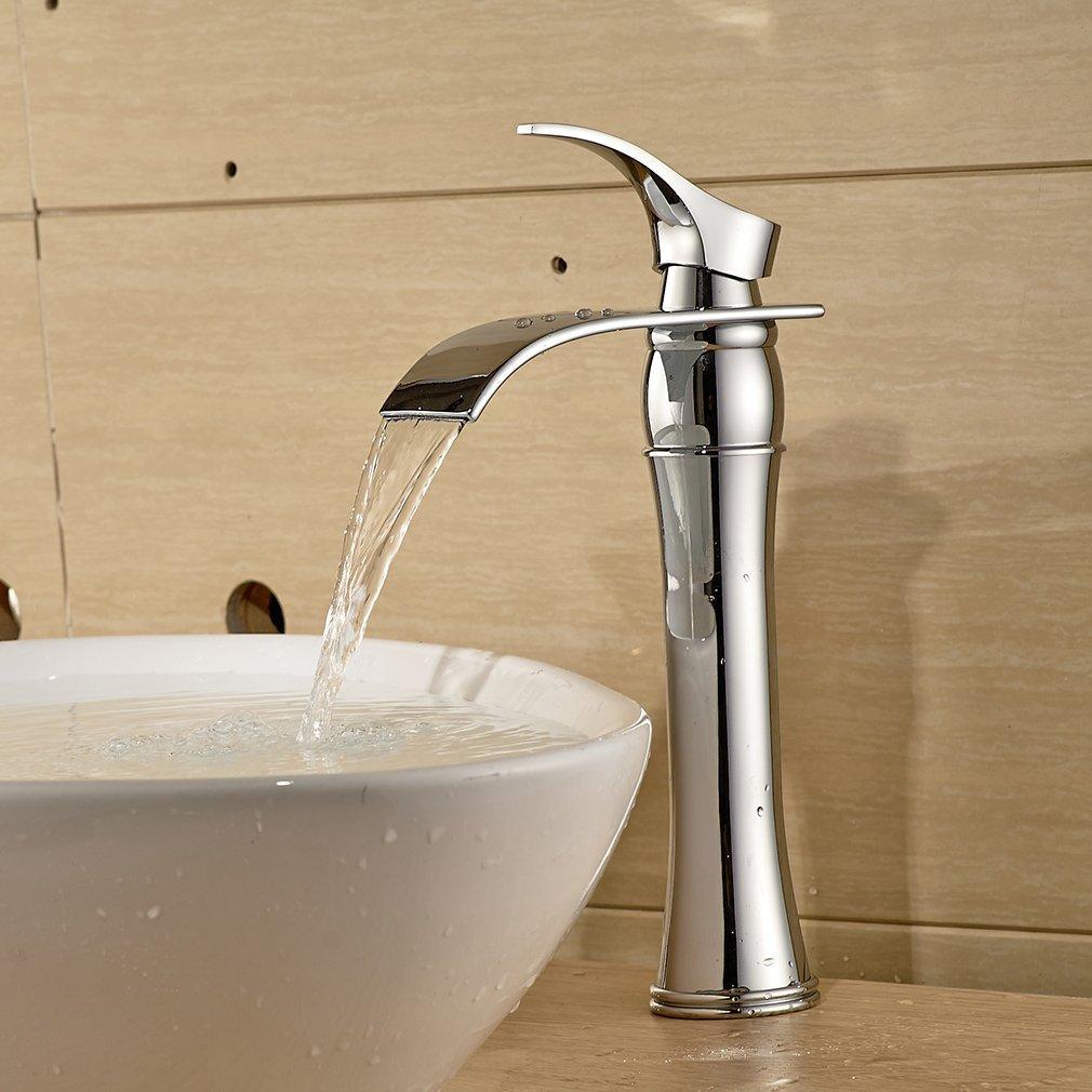 Einhebel Waschtischarmaturen Wasserfall Wasserhahn Armatur für ...